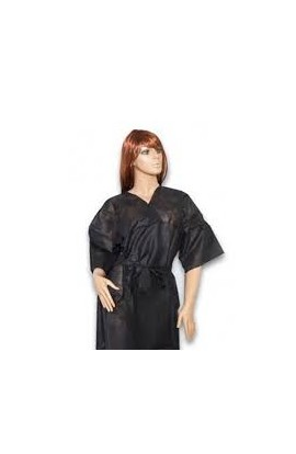 Kimono desechable negro